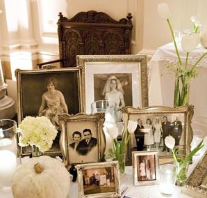 old frames on tabletop