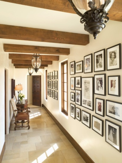 family photo wall clean lines